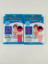 Turbie Band Head Band  by Turbie Twist (Lot of 2) Purple NEW in Package
