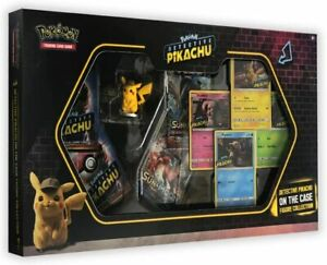 POKEMON TCG Detective Pikachu On The Case Figure Collection Box - NEW & SEALED