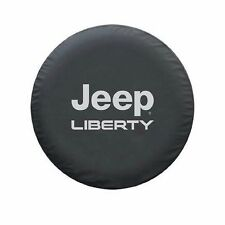 "Black Leather Spare Wheel Tire Cover for Jeep Rubicon Liberty 2002-2011 30""-31"""