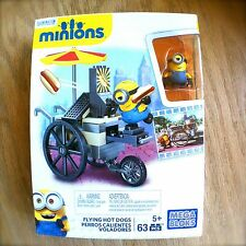 MEGA BLOKS FLYING HOT DOGS MINIONS DESPICABLE ME 63-PC SET Factory-Sealed CNF51