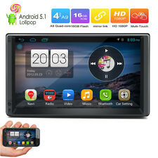 "Android 5.1 3G WIFI 7""Double 2DIN Car Radio Stereo No DVD Player GPS Nav In dash"