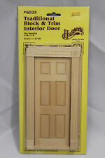 VTG 80s Houseworks Traditional Block and Trim Interior Door No 6025 Dollhouse