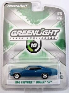 1968 Chevrolet Impala SS   blau metallic  /  Greenlight 1:64
