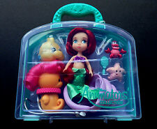 "DISNEY Store ANIMATORS Collection 5"" ARIEL Mini DOLL PLAY SET w/Case NWT"