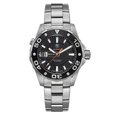 Tag Heuer Aquaracer Waj1110.ba0871 500m Diver Black Swiss Quartz Mens Watch