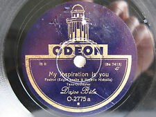 78rpm DAJOS BELA & REX ALLAN: Can't help lovin / My inspiration is you - ODEON