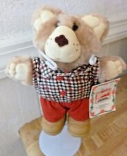 """Vintage Wendys Furskins bear Holiday """"Boone"""" with tags 7"""" mini light beige"""