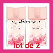 Lot de 2 bottles water de toilette SOFT MUSK new - scent butternut sensual