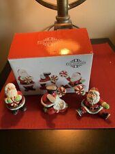 Fitz & Floyd Peppermint Santa Tumblers 2008 Christmas ~ Original Box