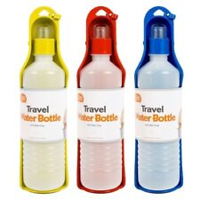 2x Pet Travel Water Bottle Portable Foldable Dog Cat Drink Feeding Bowl 250ml