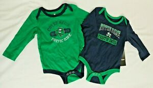 NEW Notre Dame Fighting Irish Colosseum LS One Piece 2 Piece Set Infant 6-12 Mo