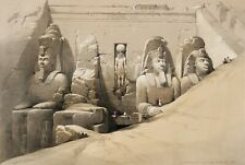 "David Roberts : ""Great Temple of Abu Simbel"" (1842-1849) — Giclee Fine Art Print"