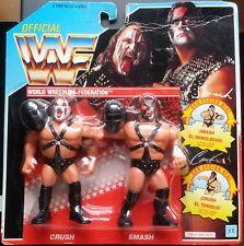 Figura WWF Hasbro Demolition (Tag Team) Series 2 Tarjeta Azul Neón MOC