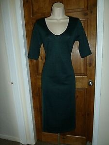 Pretty dark green body-con dress from Next size 12