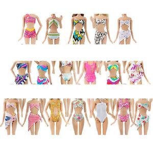 5 Sets Schwimmen Badeanzug Bikini Strand Bademode Kleidung für Barbie Puppen