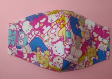Hello Kitty  Friends Face Mask Adult 3-Layers Filter Pocket Option chromatic