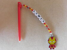 Personalised DS / DSi Stylus Pen with charm Ironman red pen