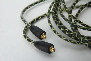 Green Audio Cable with mic For FiiO F5 F9 F9SE F9Pro FH1 FH5 FA7 FA1 FH7 headpho