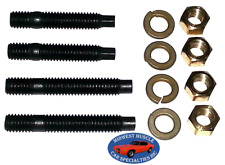 "GM Chevy Pontiac Olds 3/8"" Engine Exhaust Intake Manifold Head Stud Bolt 4pcs E"