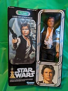 🟢⚪ Vintage Star Wars HAN SOLO 12 inch complete w/ box Kenner 1978 ⚪🟢