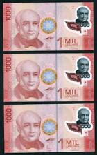 THREE BANK OF COSTA RICA 1000 2 CONSECUTIVE COLONES BANKNOTES MINT UNC 2009
