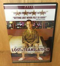 Lost In Translation Dvd Widescreen Bill Murray Scarlett Johansson Anna Faris