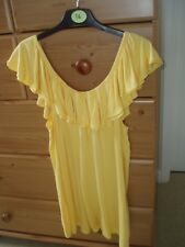 VINTAGE CHANGES TOGETHER BARDOT STYLE TEE SHIRT SIZE YELLOW