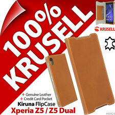 Krusell FlipCover GENUINE LEATHER Slim Flip Case Cover Sony Xperia Z5 / Z5 Dual