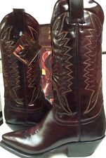 Joma Womens  Western Boots  Burgandy (brown)  Leather  Size 4 M NEW