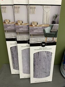 Room Mates Peel & Stick Wall Decals Faux WoodFarmhouse Distressed Gray Lot Of 3