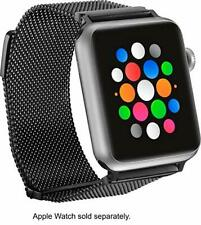 Platinum - Magnetic Stainless Steel Mesh Band for Apple Watch™ 38mm - Black