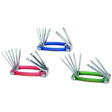 Folding Allen Ball Driver 9 pc Set Hex Key. Color may vary.