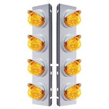 Peterbilt Front Air Cleaner Kit 8 Reflector Lights & Visor-Amber LED/Lens  DUAL