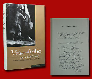 Virtue and Values for the 21st Century by J Nelson Hoffman (2001,HC,1st) SIGNED