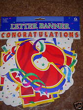 NIP Congratulations Jointed Large Banner 7.8ft NEW