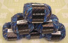 Filatura Di Crosa Allegro 10 Blue Wool Blend Yarn -- 6 Skeins + Free Gift!
