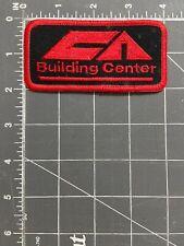 Vintage Ca Building Center Logo Patch Materials Supply Lumber Hardware Tools Job