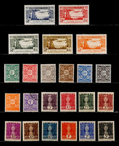 FRENCH GUINEA, FRANCE: CLASSIC ERA STAMP COLLECTION AIRMAIL, POSTAGE DUE SETS