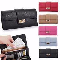 New Women Leather Bifold Wallet Clutch Phone Card Holders Purse Long Handbag 79P
