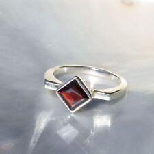 Ringe mit Edelsteinen aus Sterlingsilber echten 59 (18,8 mm Ø) Granate