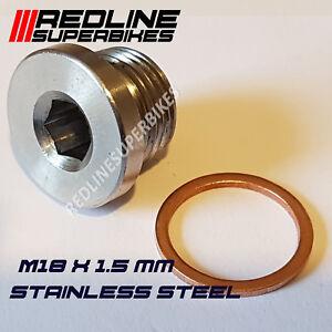 M18 x 1.5mm Oxygen o2 Lambda Sensor blanking Plug Cap Stainless Steel