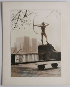 Original 1960s male nude archer monument in Dresden, Germany