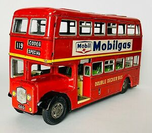 Vintage Asakusa Tin Plate London Double Decker Bus (1960's) Made in Japan