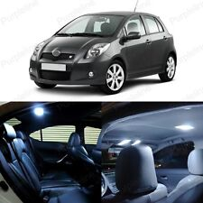 8 x White LED Interior Lights Package Kit Deal For Toyota Yaris 2007 - 2011