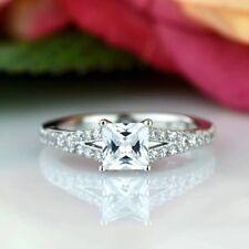 1 Ct D/vvs1 Split Shank Engagement Ring in 14k White Gold
