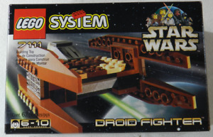 1999 LEGO System 7111 Star Wars Episode I Droid Fighter NEW Factory Sealed 62pcs