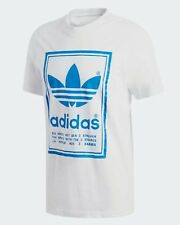 NEW MEN'S ADIDAS ORIGINALS VINTAGE TREFOIL TEE SHIRT ~SIZE MEDIUM  #DJ2716