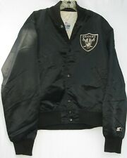 Vintage Authentic PROLINE by Starter 2 pocket L.A. Raiders satin jacket medium