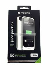 New Original Mophie Juice Pack Air for iPhone 5/5S/SE 1700mAh Battery White Case