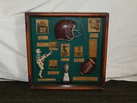 "VINTAGE 15"" X 15"" OLD FOOTBALL WALL DISPLAY"